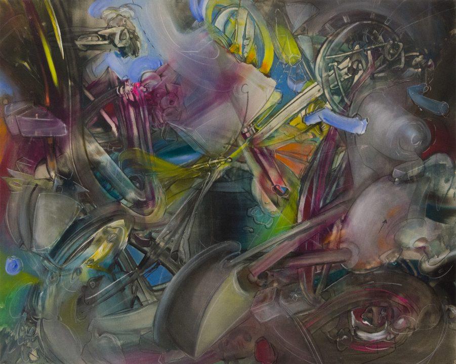 Malerei von Stefan Zoellner Acrylbild Assimilation