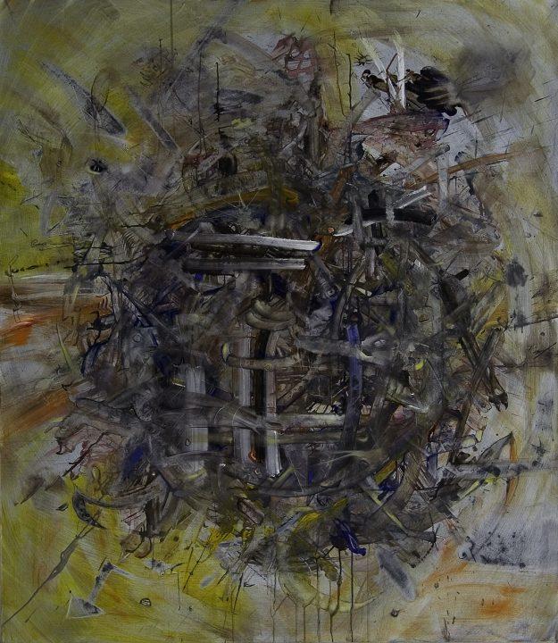 Drecknest 2 | Acrylbild von Stefan Zoellner | 1992