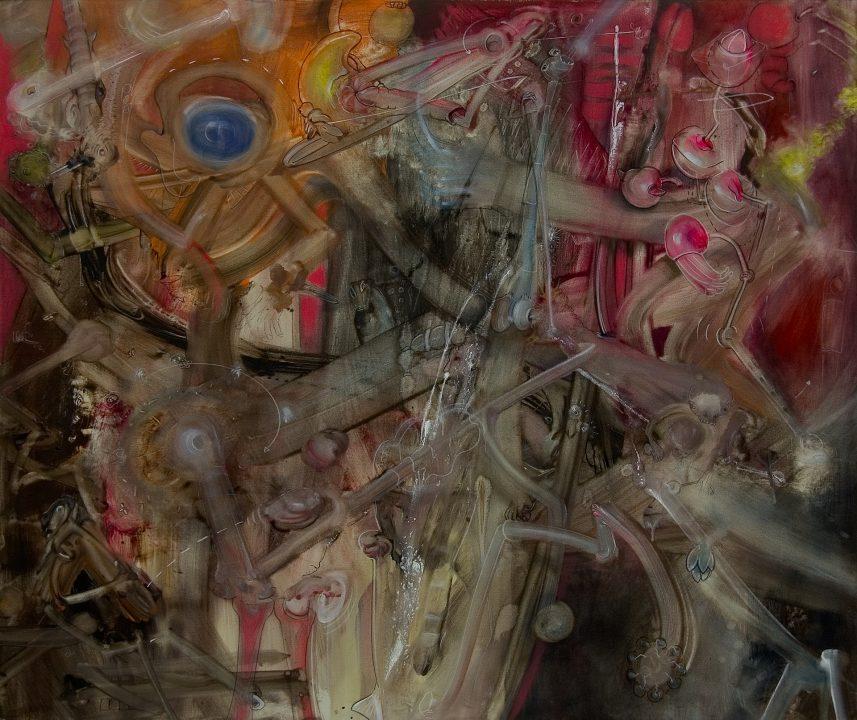 Fireworks I _ 2004 _ Acryl auf Baumwolle _ 147 x 175 cm