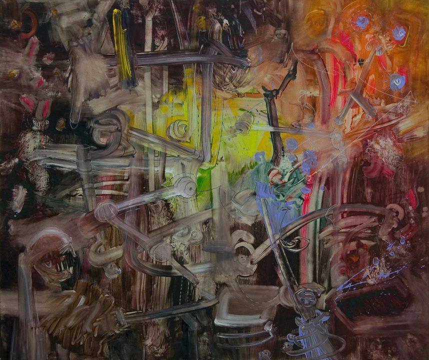 Fireworks II _ 2004 _ Acryl auf Baumwolle _ 147 x 175 cm