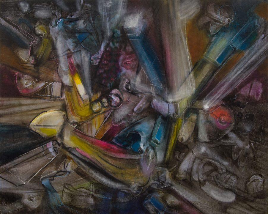 Malerei von Stefan Zoellner Acrylbild Shakti