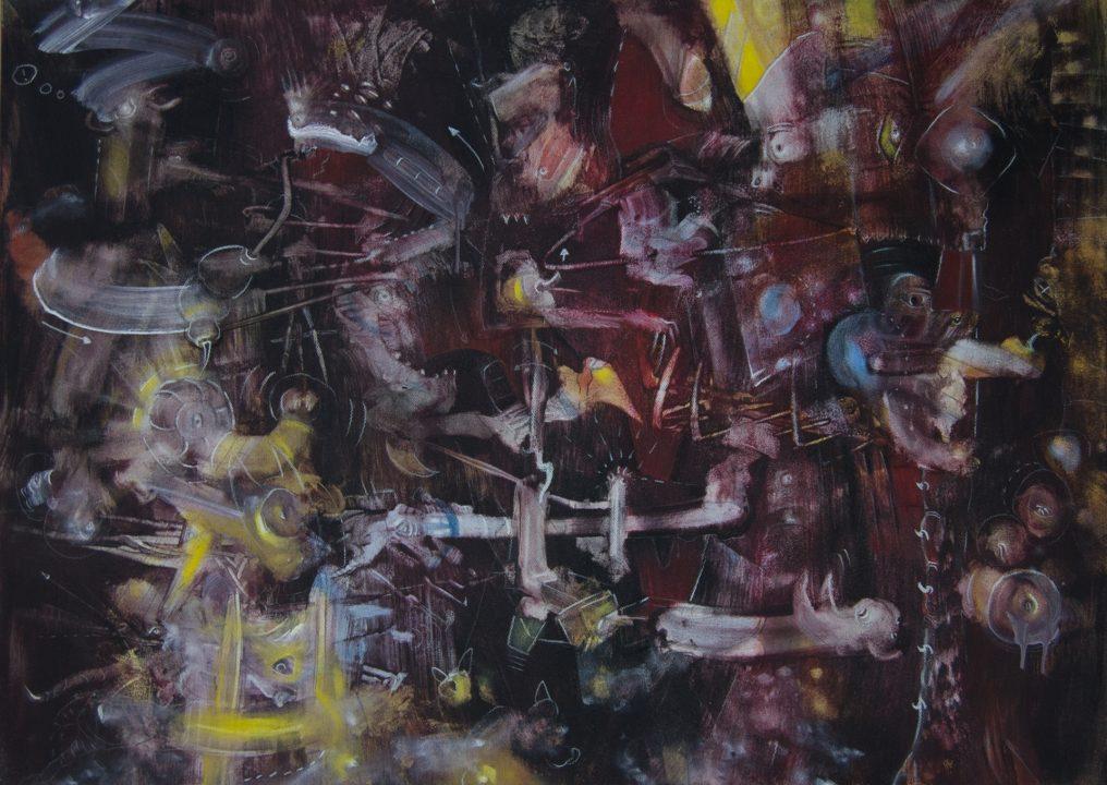 Unterwelt | Dark _ 2003 _ Acryl auf Baumwolle _ 75 x 105 cm