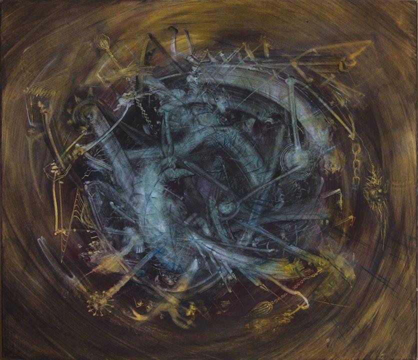Uruburus | Acrylbild von Stefan Zoellner | 1992