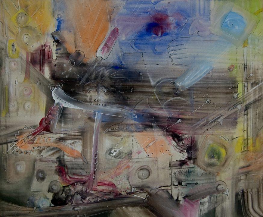 WWW _ 2003 _ Acryl auf Baumwolle _ 100 x 120 cm
