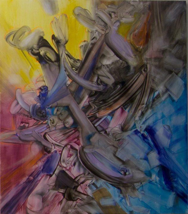 Acrylbild Waves Triptychon rechte Tafel