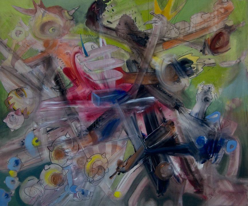 Zwillen _ 2003 _ Acryl auf Baumwolle _ 100 x 120 cm